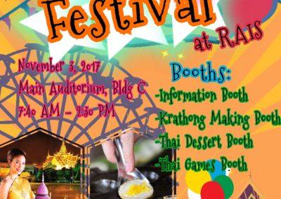 Loy Krathong Festival at RAIS