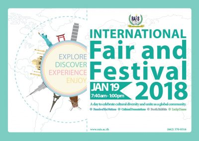 RAIS 2nd Annual International Fair and Festival 19 January 2018