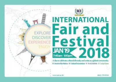 RAIS 2nd Annual International Fair and Festival 19 January 2018