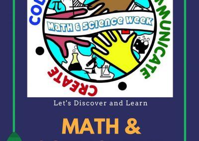Math and Science Week April 30 – May 4, 2018