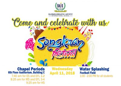 Songkran Festival 2018