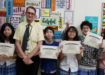 Middle School Achievement Awards for the Third Quarter