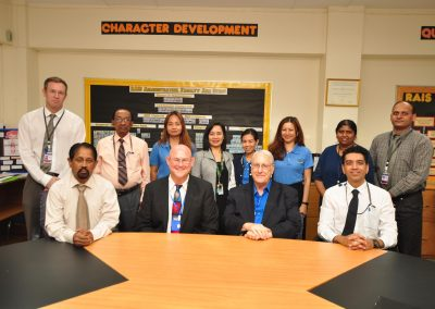 Mr. James Fontana and Dr. Dale Mitchell of WASC Accrediting Commission Visit RAIS (March 22-23, 2018)