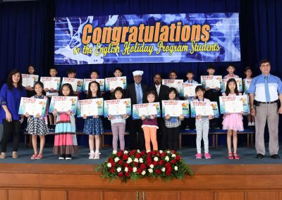 Summer English Program Ends on October 26, 2018