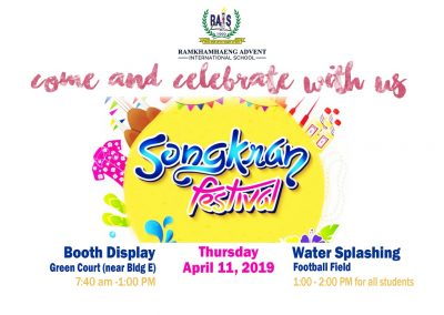 Come and celebrate Songkran festival with us!