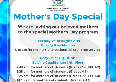 Mother's Day Program 2019