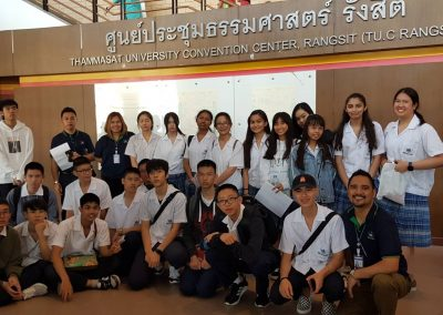 RAIS Grade 11 and 12 students visits; Thammasart Rangsit Campus Open House on November 6, 2019