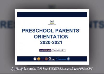 Preschool Parents' Orientation 2020 – 2021
