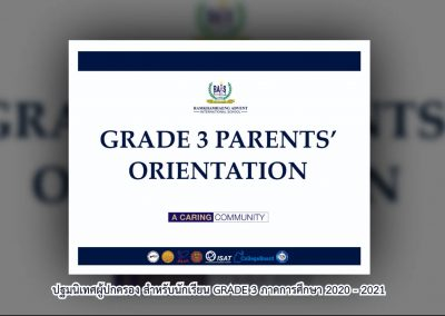 Grade 3 Parents' Orientation 2020 – 2021