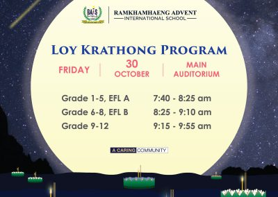 Loy Krathong Program 2020