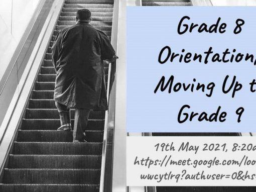 Grade 8 Virtual Orientation & Moving Up Program