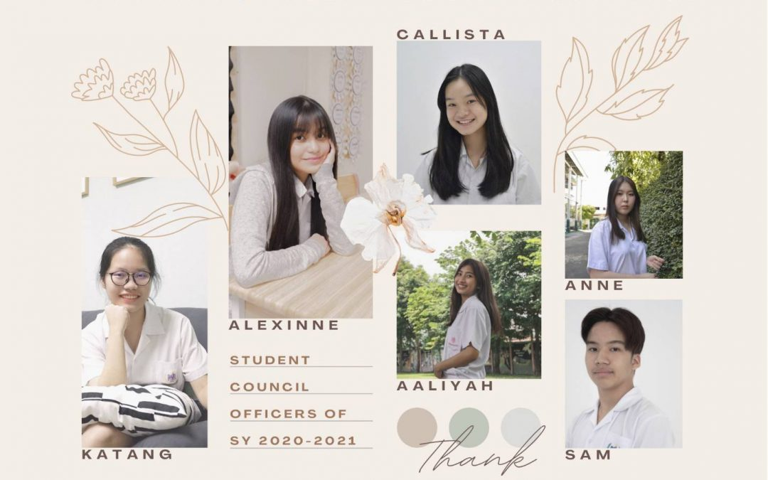 Appreciation to Outgoing Student Council Officers SY: 2020-2021